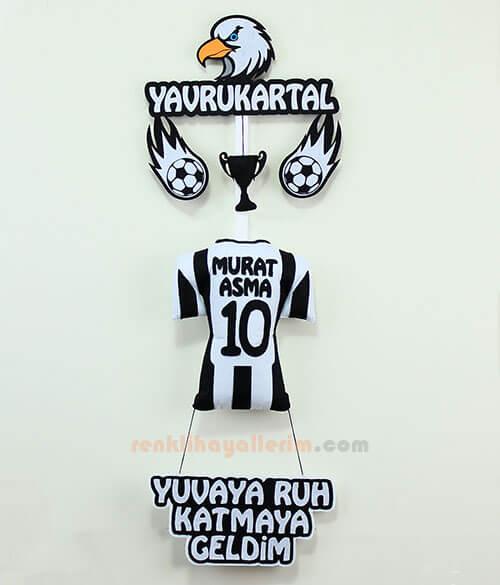 Murat isimli Beşiktaş Yavru Kartal Kapı Süs