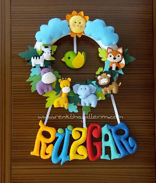Rüzgar isimli safari hayvanlı kapı süsü