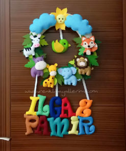 Ilgaz Pamir isimli hastane kapı süsü isimli - Pamir isimli bebek kapı süsü modelleri