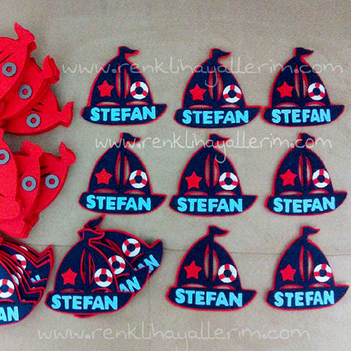 Stefan isimli yelkenli magnet anahtarlık