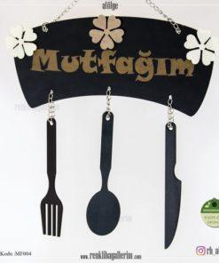 Mutfağım Yazılı İsimli Mutfak Süsü - Duvar Süsü - Hediye - MF004