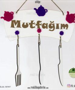 Mutfağım Yazılı İsimli Mutfak Süsü - Duvar Süsü - Hediye - MF007