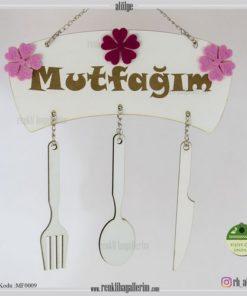Mutfağım Yazılı İsimli Mutfak Süsü - Duvar Süsü - Hediye - MF009