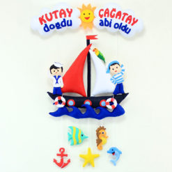 Denizci Kardeş Odası Kapı Süsü