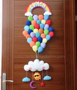 Eymen isimli Balonlar Kapı Süsü bebek çocuk