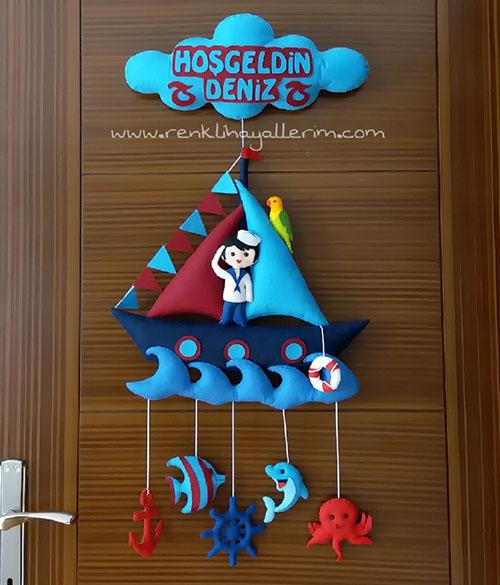 Bordo Mavi Denizci Kapı Süsü - Trabzonspor