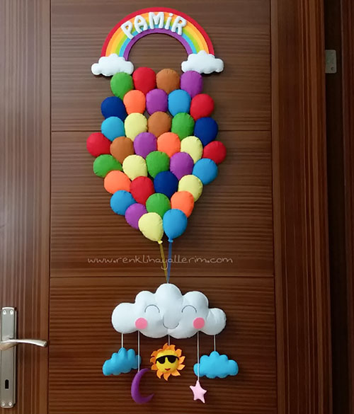 Pamir isimli Balonlar Kapı Süsü bebek çocuk