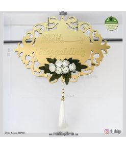Hoşgeldiniz Ayna Pleksi Kapı Süsü HP003
