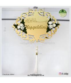 Hoşgeldiniz Ayna Pleksi Kapı Süsü HP005