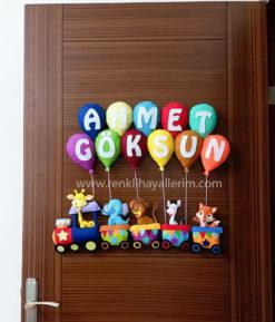 Ahmet Göksun isimli trenli bebek kapı süsü modelleri