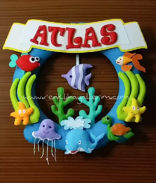 Atlas isimli bebek kapı süsü - atlas simit kapı süsü