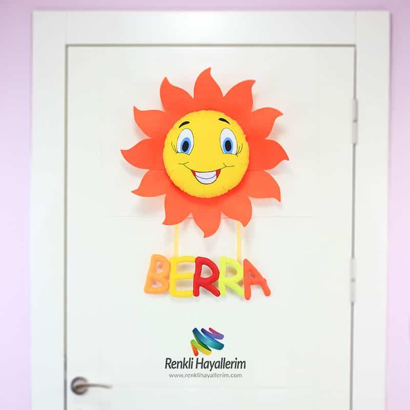 Berra Güneş Bebek Odası Kapı Süsü