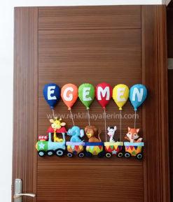 Egemen isimli trenli bebek kapı süsü modelleri - Egemen isimli bebek kapı süsü modelleri