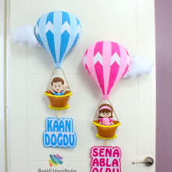 Kardeşler Balonlu Kapı Süsü - Sena Kaan