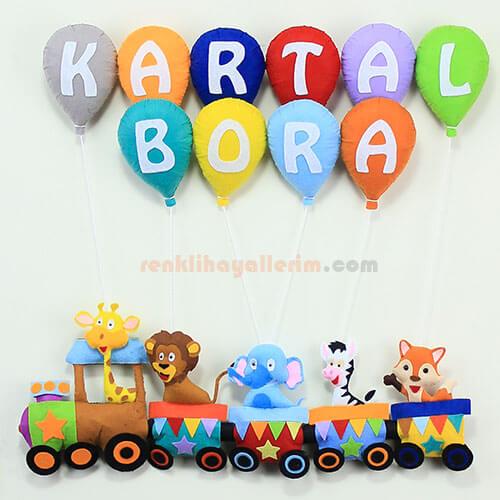 Kartal Bora isimli Trenli Bebek Kapı Süsü
