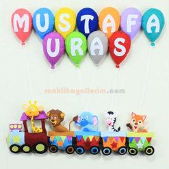 Mustafa Uras isimli Trenli Bebek Kapı Süsü