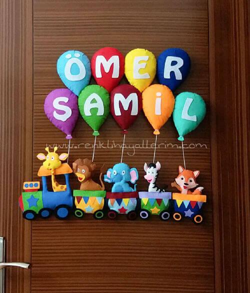 Ömer Şamil Tren Bebek Kapı Süsü