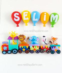 Selim isimli trenli bebek kapı süsü