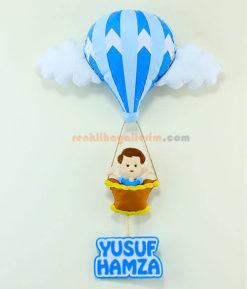 Yusuf Hamza isimli Balonlu bebek kapı süsü