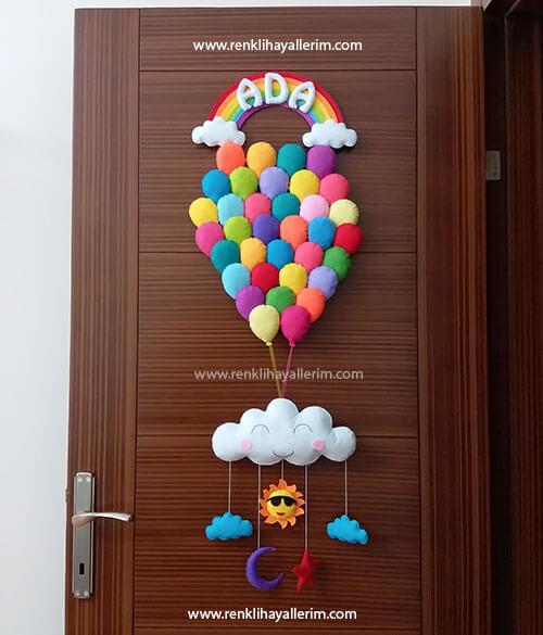 Ada bebek çoklu balonlu kapı süsü