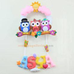 Asya isimli yıldızlı bebek kapı süsü