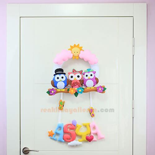 Asya isimli yıldızlı bebek kapı süsü kapı fotosu