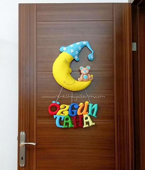 Aydede Ayıcık Bebek Kapı Süsü Özgün isimli bebek kapı süsü Taha