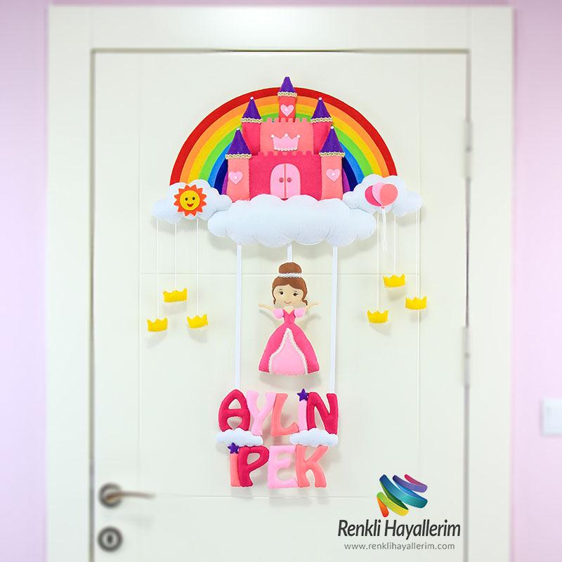 Aylin İpek isimli Şato Bebek Odası Kapı Süsü Kapı