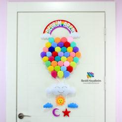 Balonlar Bebek Kapı Süsü