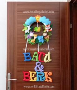 Batu ve Berk isimli Safari Kardeş Kapı Süsü