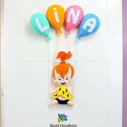 Çakıl Kız Bebek Kapı Süsü - Lina