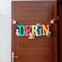 Derin isimli Bebek Kapı Süsü - Kız Bebek