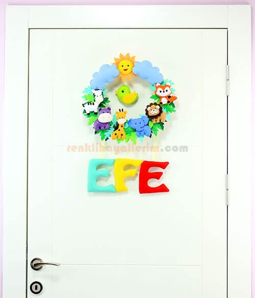 Efe isimli safari bebek kapı süsü tam boy
