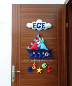 Ege isimli bebek kapı süsü modelleri denizci bebek kapı süsü modeli