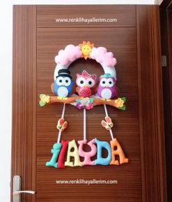 ilayda isimli kız bebek kapı süsü