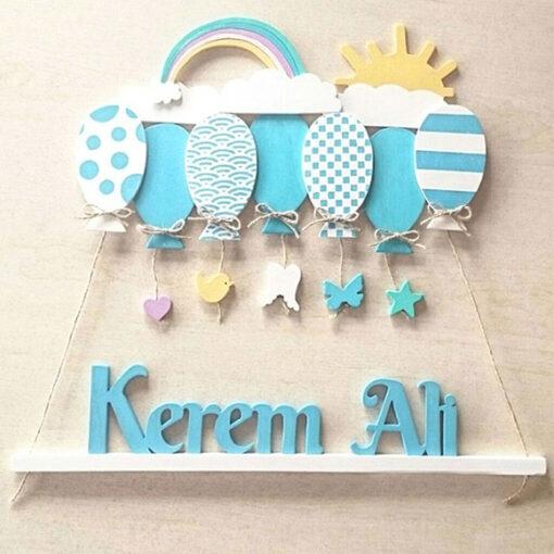 Kerem Ali isimli ahşap balonlu sarkıt kapı süsü