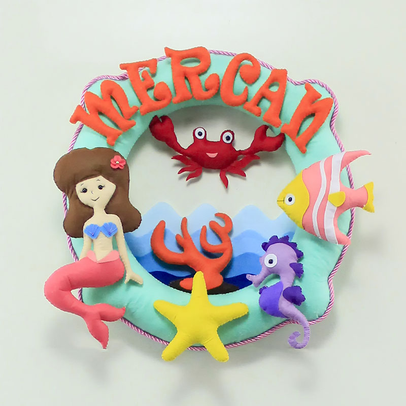 Mercan Mercan Kız Bebek Kapı Süsü