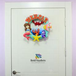 Mercan Mercan Kız Bebek Odası Kapı Süsü