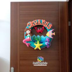Okyanus Mercan Kız Bebek Kapı Süsü