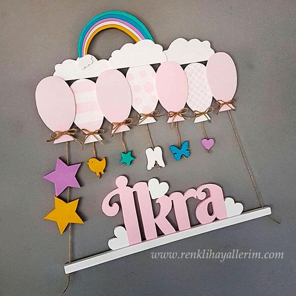 ikra isimli ahşap balonlu sarkıt kapı süsü