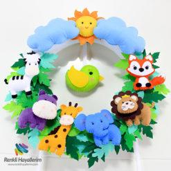Safari Bebek Kapı Süsü Detay