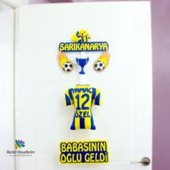 Sarı Kanarya Fenerbahçe Bebek Kapı Süsü