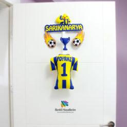 Sarı Kanarya Fenerbahçe Bebek Odası Kapı Süsü