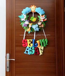 Selim Asaf Safari Bebek Kapı Süsü - Asaf isimli bebek kapı süsü modelleri