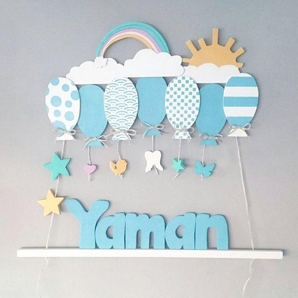Yaman isimli ahşap balonlu sarkıt kapı süsü