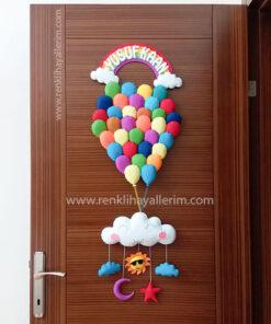 Yusuf Kaan isimli Balonlar Bebek Kapı Süsü