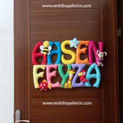 Ahsen Feyza isimli bebek kapı süsü