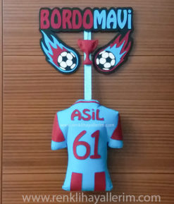 Bordo Mavi Trabzon Kapı Süsü - Asil isimli Trabzonspor bebek kapı süsü
