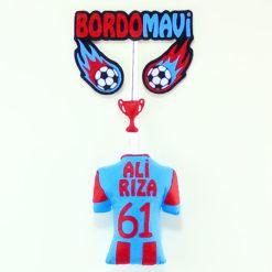 Bordo Mavi Trabzonspor Kapı Süsü - Ali Rıza