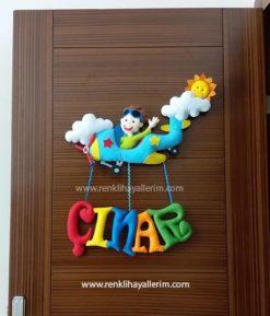 Çınar isimli keçe bebek kapı süsü modeli